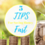 5 Tips for saving money fast.