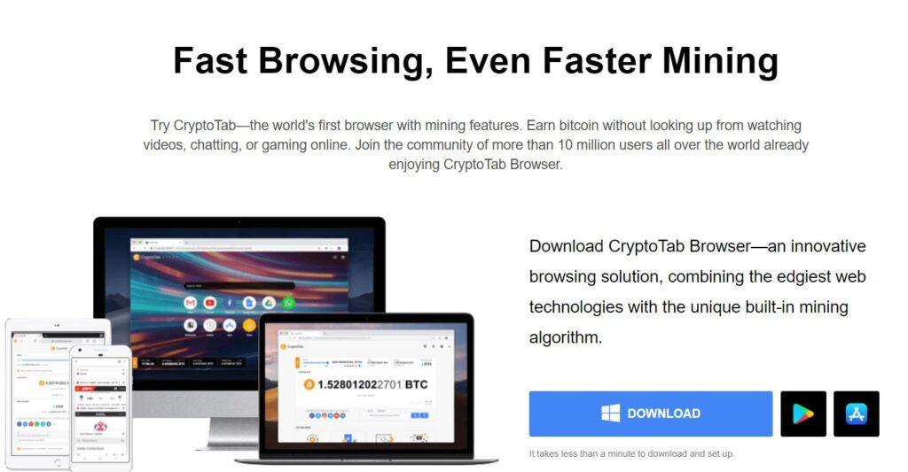 Earn Free Bitcoin With Crypto Tab