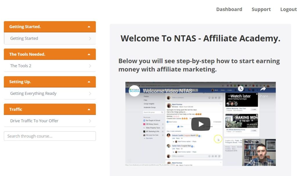 Affiliate marketing free course