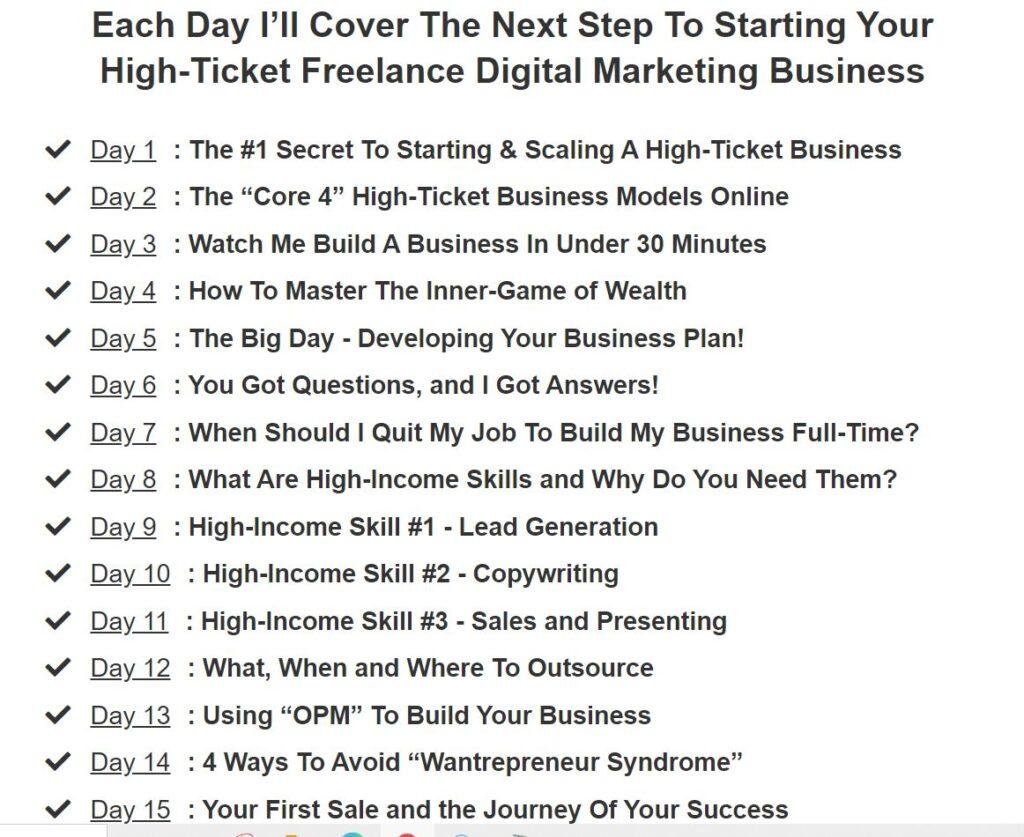 15 Day Business Builder Challenge - Legendary Marketer