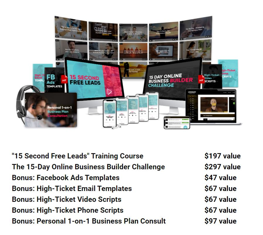 15 Second Free Leads - Legendary Marketer Products